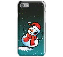 Snowman Toppling Over iPhone Case/Skin