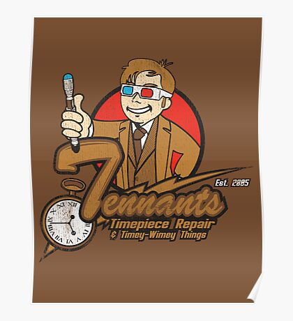 Tennants Timepieces Poster Poster