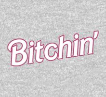 Pink Bitchin' Barbie Typography One Piece - Long Sleeve
