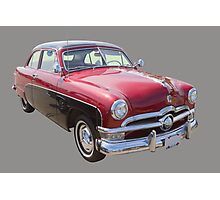 1950 Ford Custom Deluxe Classsic Car Photographic Print