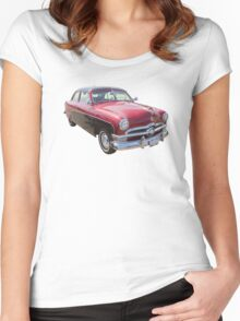 1950 Ford Custom Deluxe Classsic Car Women's Fitted Scoop T-Shirt