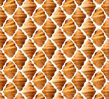 Background pattern made of croissants by Sergey Skleznev