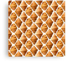 Background pattern made of croissants Canvas Print