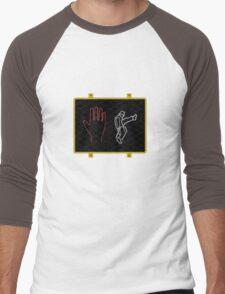 Silly Walk Sign Men's Baseball ¾ T-Shirt