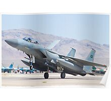 F-15S Eagle #9212 Touches Down Poster