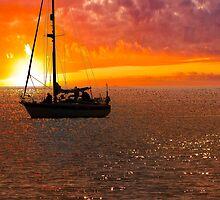 Yacht Sunrise by Darren Burroughs