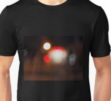 Abstract blurred image of circular lights on the night road Unisex T-Shirt