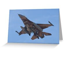Belly shot of an F-16C Fighting Falcon Greeting Card