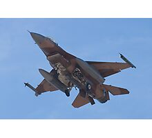 Belly shot of an F-16C Fighting Falcon Photographic Print