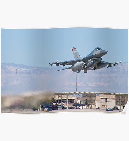 #HL AF 89 0149 F-16C Fighting Falcon Taking Off Poster