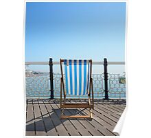 blue sky blue chair Poster