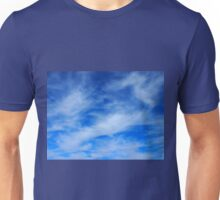 Background of white cirrus clouds  Unisex T-Shirt