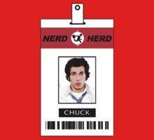 Chuck Nerd Herd ID Card Shirt Kids Tee