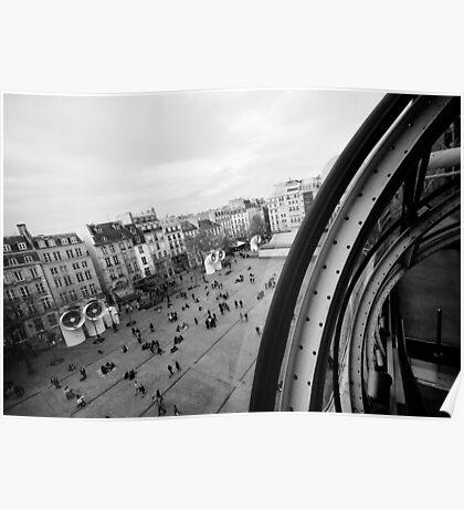 Paris du Centre de Pompidou Poster