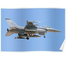 OT AF 87-0362 F-16C Fighting Falcon Poster