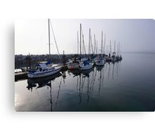 White Rock Pier Marina Canvas Print