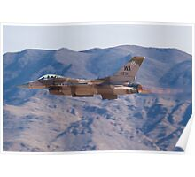 WA AF 86-0291 F-16C Fighting Falcon Poster
