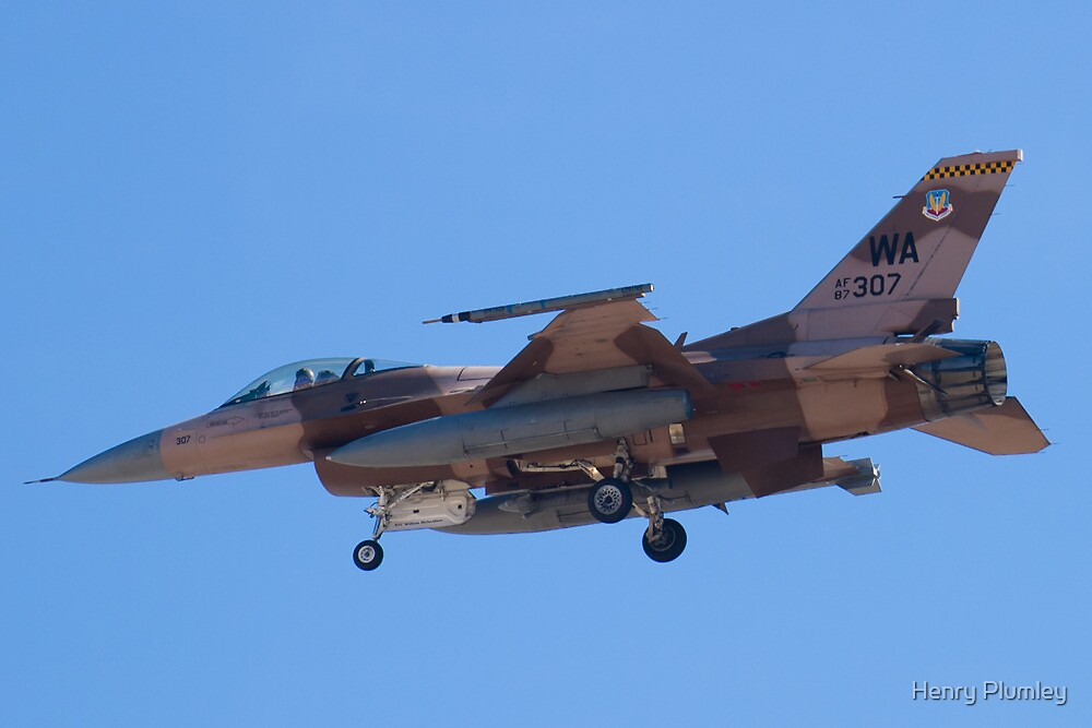 WA AF 87-0307 F-16C Fighting Falcon by Henry Plumley
