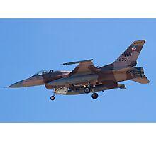 WA AF 87-0307 F-16C Fighting Falcon Photographic Print