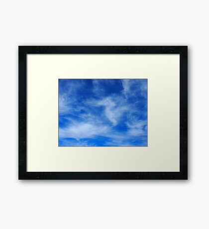 Clouds and sky are taking a picture Framed Print