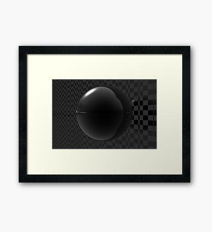 Black Checkers Framed Print