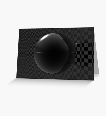 Black Checkers Greeting Card