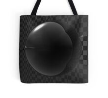 Black Checkers Tote Bag