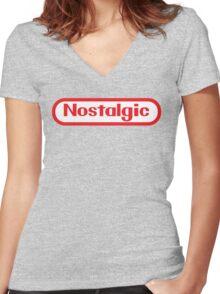NES Collection : Nostalgic Logo Women's Fitted V-Neck T-Shirt