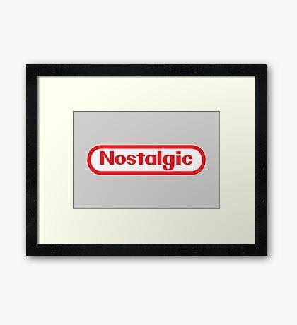 NES Collection : Nostalgic Logo Framed Print