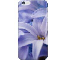Blue hyacinth flowers iPhone Case/Skin