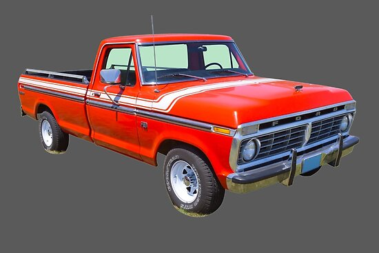 1975 ford f100 explorer pickup truck posters by kwjphotoart redbubble. Black Bedroom Furniture Sets. Home Design Ideas