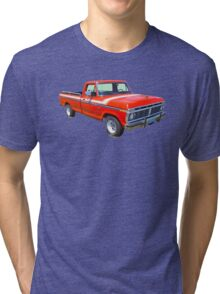 1975 Ford F100 Explorer Pickup Truck Tri-blend T-Shirt