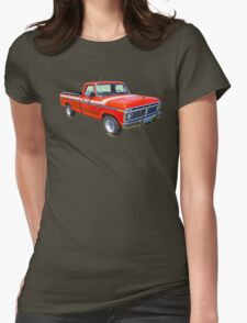 1975 Ford F100 Explorer Pickup Truck Womens Fitted T-Shirt