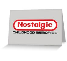 NES Collection : Nostalgic Childhood Memories Greeting Card
