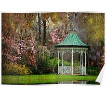 Spring Magnolia Garden At Magnolia Plantation Poster