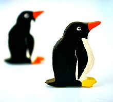 penguins in the middle of nowhere by annet goetheer