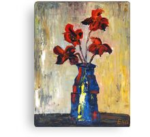 """Red flowers""  Canvas Print"