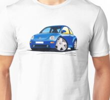 VW New Beetle Blue Unisex T-Shirt