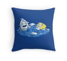 Bubble Beards Throw Pillow