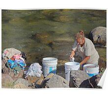 Laundry day - Dia de lavado Poster