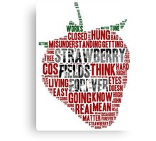 The Beatles - Strawberry Fields Forever Wordcloud Canvas Print