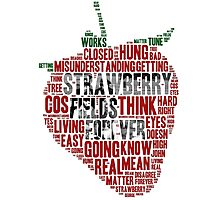 The Beatles - Strawberry Fields Forever Wordcloud Photographic Print