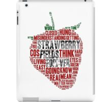 The Beatles - Strawberry Fields Forever Wordcloud iPad Case/Skin