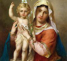 Virgin Mary Holy icon catholic art by tanabe