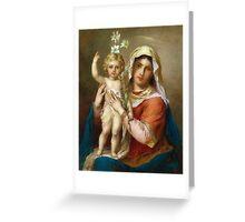 Virgin Mary Holy icon catholic art Greeting Card