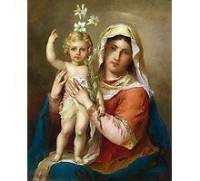 Virgin Mary Holy icon catholic art Photographic Print