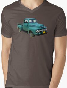 1951 ford F-1 Antique Pickup Truck Mens V-Neck T-Shirt