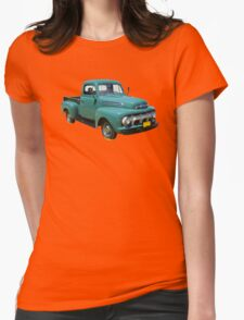 1951 ford F-1 Antique Pickup Truck Womens Fitted T-Shirt