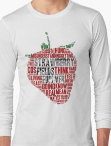 The Beatles - Strawberry Fields Forever Wordcloud Long Sleeve T-Shirt