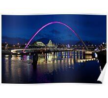 Gateshead Millennium Bridge, Newcastle Poster